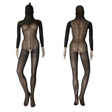 Unisex Sheer Opaque Crotchless Bodystocking Body Encasement tot Hoofd Bodyhose Panty Erotische Bodystocking Lingerie(China)