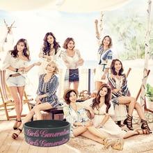 Girls' Generation Kpop Korean popular group silicone bracelet wristband For Girls' Generation custom jewelry