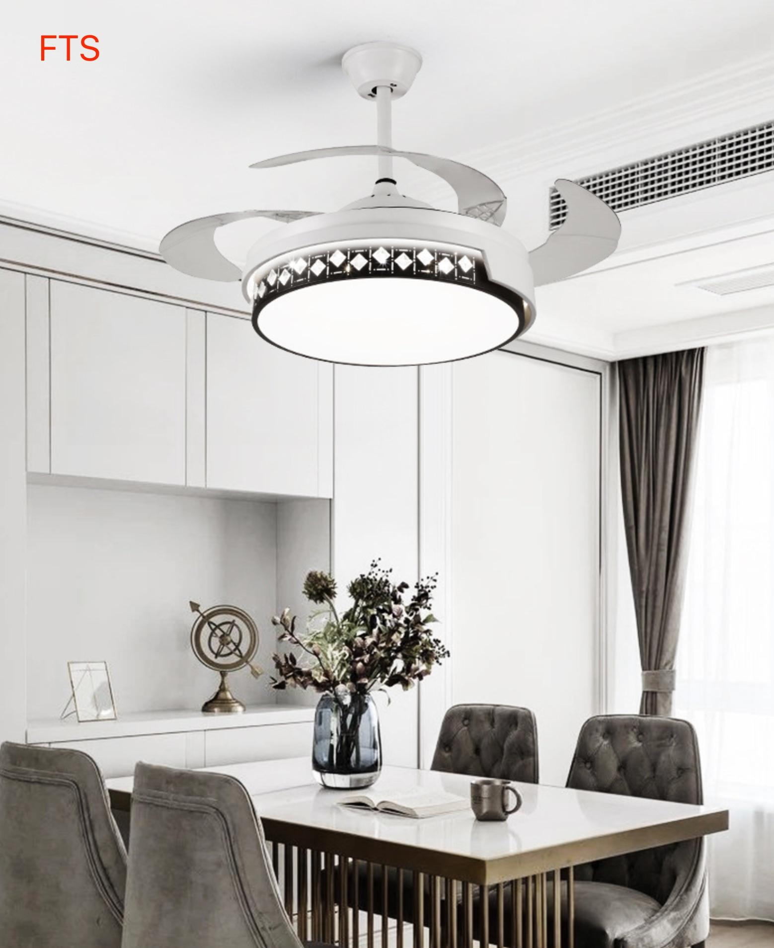 Fan Light Invisible Light Luxury Simple Living Room Light Bedroom New Fan Light Remote Control Nordic Ceiling Fan Light By Scientific Process