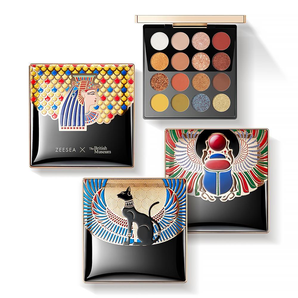 ZEESEA New 16 Colors Egypt Eyeshadow Palette Matte Shiny Waterproof  Holographic Eye Shadow Pallete Makeup Palette