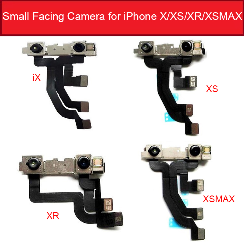 Small Front Camera Flex For IPhone X Xs Max XR Front Facing Camera Flex Cable Ribbon Without Face ID Replacement Parts