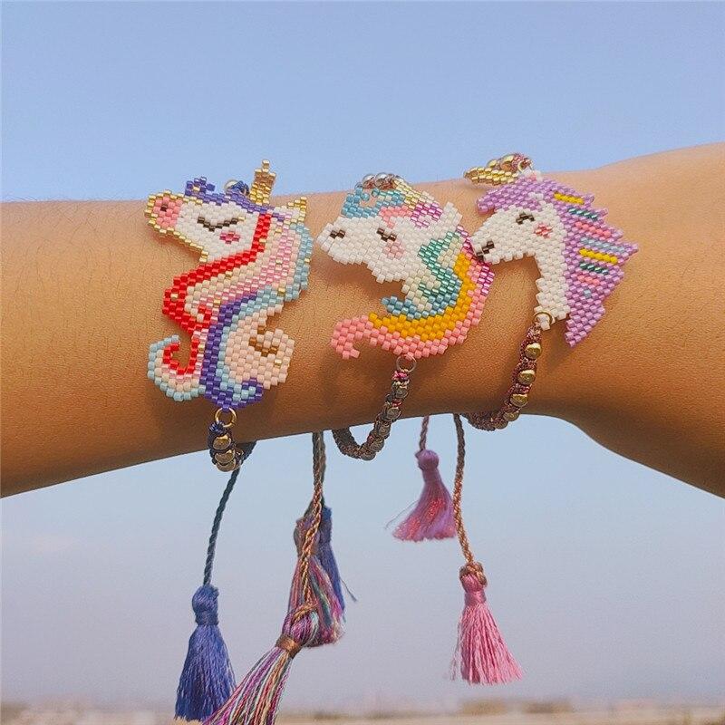 Rainbow Bracelet Beaded Handmade Child/'s Rainbow Bracelet
