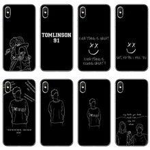1d louis tomlinson dois de nós acessórios caso de telefone para o iphone 12 11 pro max xs max xr x 8 7 mais 6 6s mais 5 5S se 2020