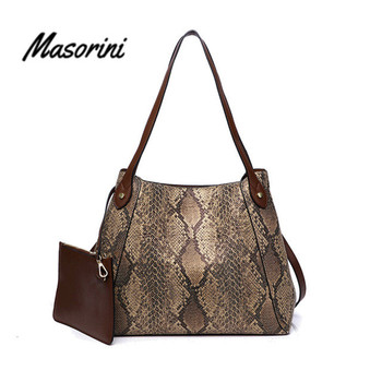 Bags for Women 2020 Leather Handbag Women Shoulder Bag Tote Luxury Handbags Snakeskin Women Bags Designer Handbags Bags цена 2017