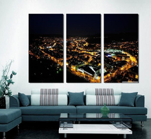 Modern Colorful Photo Picture revier cityscape tilt shift Room Decor Cities Canvas Art Painting Living