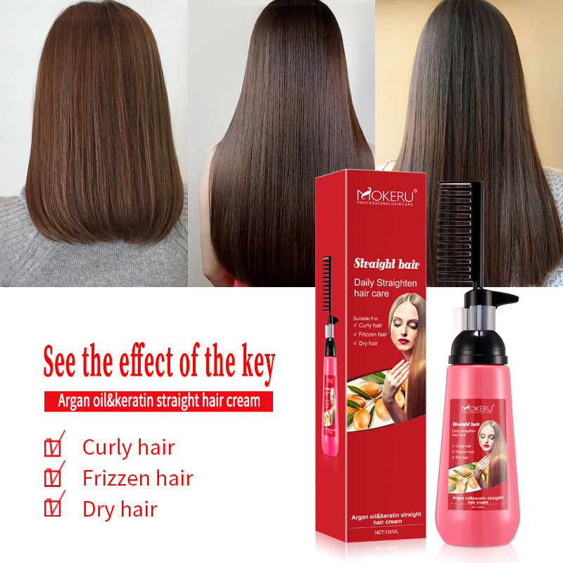 150ml Smooth Hair Straightening Nourishing Straight Hair Cream  Easy Using for Woman Natural Haircare Relaxer Cream
