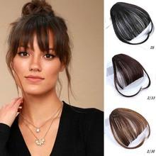 Xuanguang cor grampo em franja de cabelo acessórios do cabelo sintético falso franja cabelo pedacos grampo em extensøes de cabelo