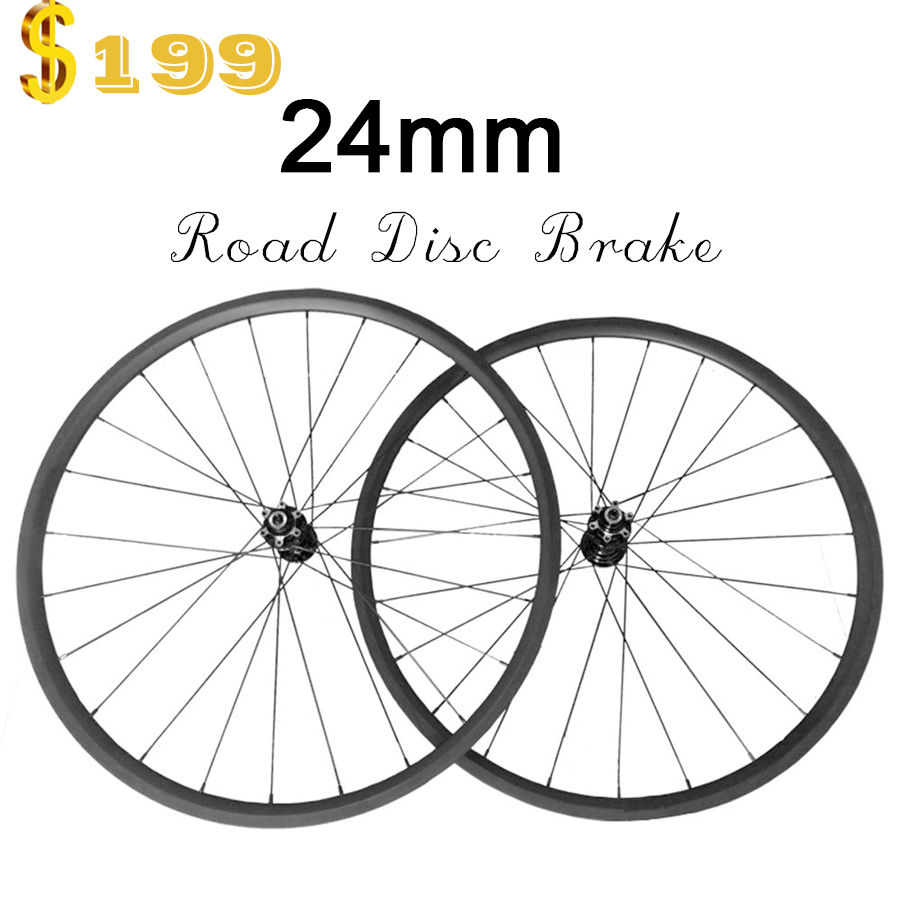 OZUZ disc brake cyclocross bike wheels 23mm wide Clincher 24mm chinese 700C 3k matte carbon fiber wheels Road Bike Wheelset