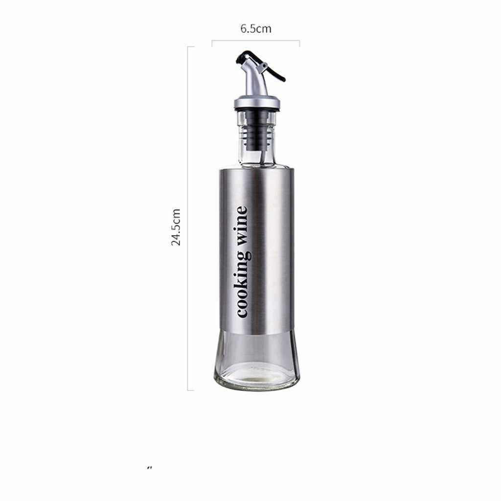 Olie Fles Roestvrij Staal Keuken Soja Sauzen Azijn Wijn Kruiden Fles Lekvrij Uitloop Kan Fles Herb Spice Tool 19OCT22