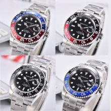 40mm mens watch black bezel green GMT automatic mechanical waterproof swim luminous top quality wristwatch mens(China)
