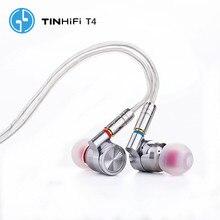 TINHiFi T4 Hifi Auricolare No Mic di LATTA audio T4 Con MMCX Cavo del Trasduttore Auricolare (In azione)