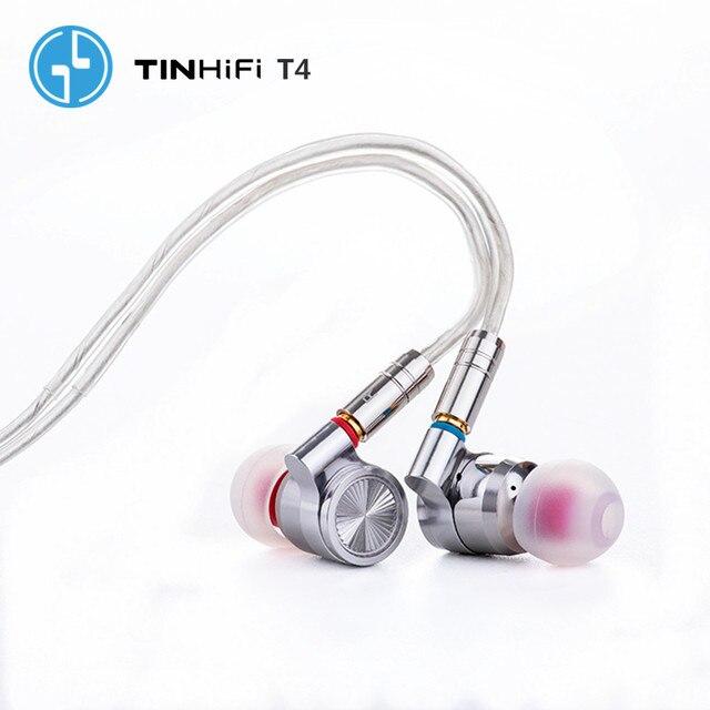 TINHiFi T4 Hifi Earphone No Mic TIN audio T4 With MMCX Cable Earphone(In stock)