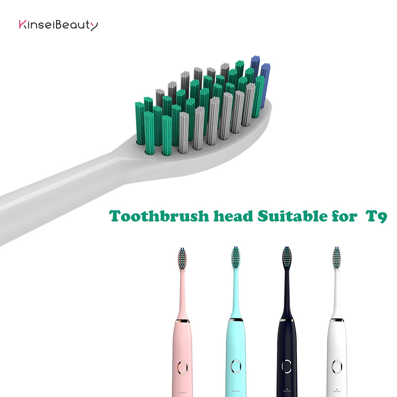 Original 2 Pcs T9 Replacement Brush Head for T9 Electric Sonic Toothbrush IPX7 Brush Heads image