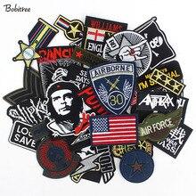 30 sztuk/partia Punker ubrania łatki hafty odznaki gorące żelazko na dla mężczyzn chłopców dżinsy kurtki motocyklowe naklejki
