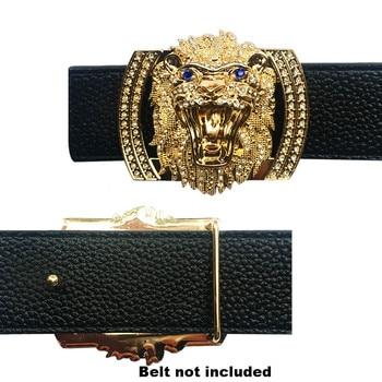 Lion Icon Heavy Metal Accessories Men's Belt Buckles Fashion Cool  Championship Raiders Belt fit for Men Leisure suits Leather