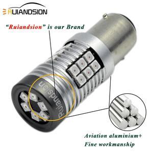 Image 2 - 2x  0.64A 8W LED Canbus BAZ15D BAY15D LED Bulb 1157 P21/5W R5W No polar Car Lights White Red Brake Lights Reverse Lamp 12V 24V