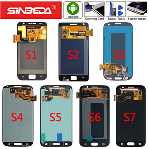 Super AMOLED For Samsung Galaxy S7 S6 S5 S4 S3 S2 S1 LCD Display Touch Screen Digitizer For Samsung S6 S5 S4 S3 S7 S2 S Screen