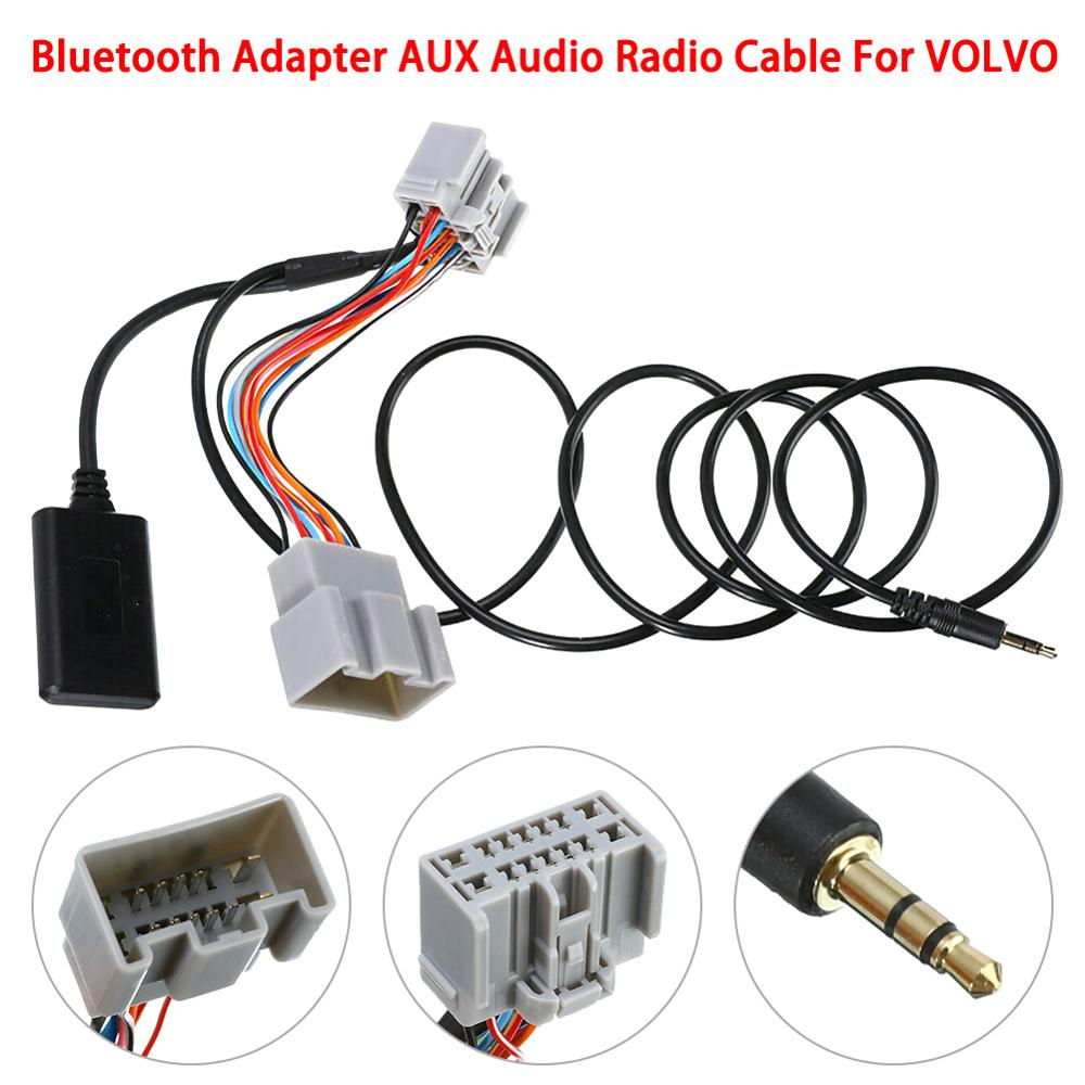 14Pin Car Wireless Bluetooth Adapter Audio Stereo AUX Cable Accessories For <font><b>Volvo</b></font> C30/S40/V40/V50/S60/S70/<font><b>C70</b></font> image