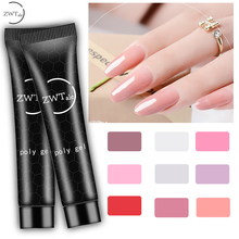 ZWTale Poly Builder UV Gel 15ml Quick Building Finger Extension Crystal LED Jelly Acrylic Nail Art Brush Tools Polygel