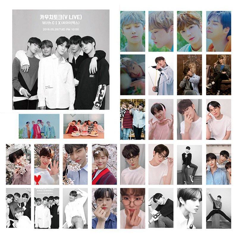 Kpop CIX HELLO Chapter 1 Stranger Photocard Stickers Jin Young Photo Stikcy Card BX 30pcs Card Postcard Greeting Card LOMO Card