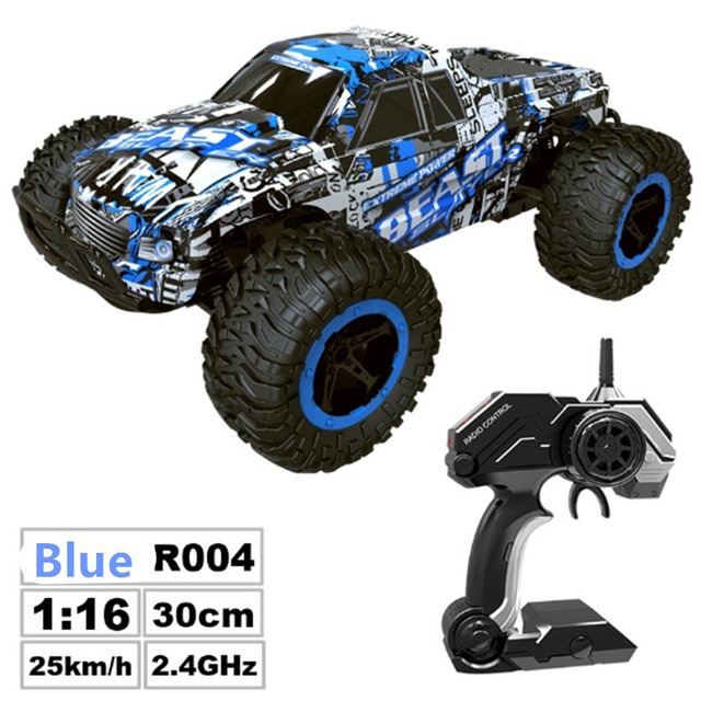 RC Car 2.4G Remote Control Off-road Vehicle Remote Control Cars Climb Buggy Trucks Boys Toys Rechargeable 1:16 2