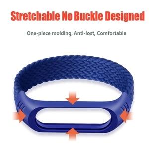 Image 4 - Nylon Braided Strap for Mi band 6 5 4 3 Wristband Sports Breathable Bracelet for Miband 6 5 4 3  Miband6 Miband5 Strap correa