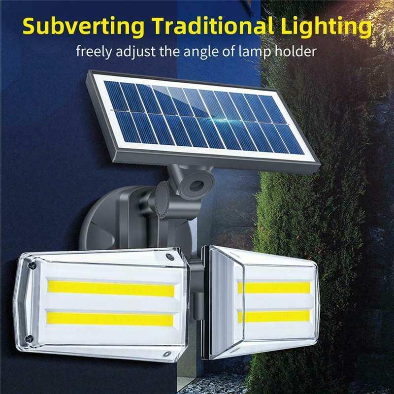 12W Solar Wall Light 12W Ajustável Dupla