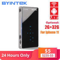 BYINTEK UFO P9 (P8I) Android 7.1 OS Pico poche HD Portable Micro WIFI Bluetooth Mini LED projecteur DLP avec batterie