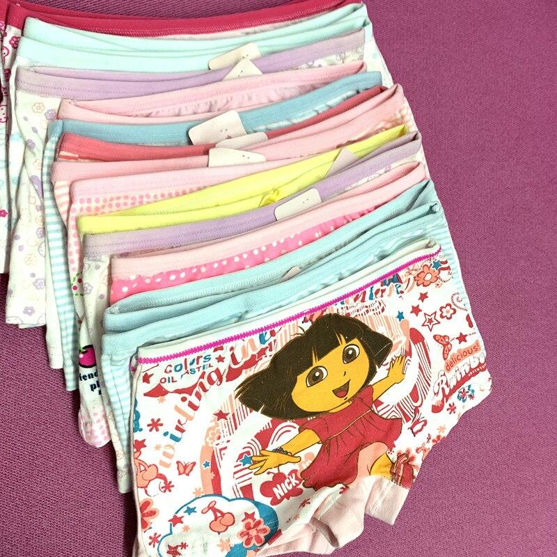 15pc/lot Girls Boxer Children Underwear Cotton Panties Cotton Boxer Underwear Suit 2-10years