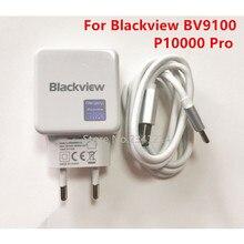 חדש Blackview P10000 פרו BV9100 USB מתאם מתח 5V/5A מהיר מטען האיחוד האירופי Plug נסיעות מיתוג אספקת חשמל + Usb כבל נתונים קו