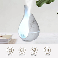 200 ml Flower Shape Aroma Essential Oil Diffuser Large Capacity Ultrasonic Air Humidifier for Car Room Home Office