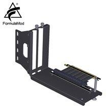 Formulamod fm zjycx, suporte vertical de placa gráfica com cabo de extensão, vertical gpu fixo, suporte de direção embutido pci e