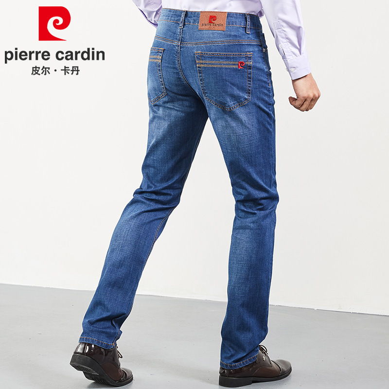 2019 New Products Genuine Product Pierre Cardin Jeans Men'S Wear Straight-Cut Slim Women's Men's Trousers Elasticity MEN'S Jeans
