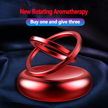 Car Perfume Double Ring Suspension Rotating Aromatherapy Solar Fragrance Cars Decoration Ornaments