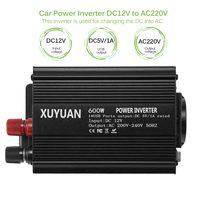 Car Power Converter Inverter 600W DC12V To AC220V Auto Car Inverter Adapter Charger 1 USB Output Interface EU Socket