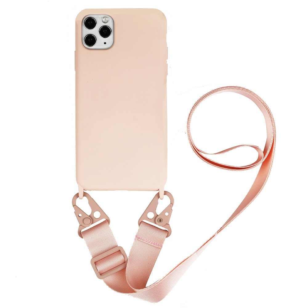 JMstore Funda Compatible con iPhone 7 Plus//8 Plus Silicona L/íquida con Colgante//Cadena.Protectora ponible Cord/ón Cruzado Correa Cuello Cord/ón