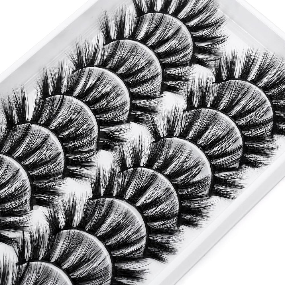 10 Pairs 3D Mink False Eyelashes Thick Lashes Extension Natural Makeup Full Volume Mink Eyelash Messy Handmade Fake Lash