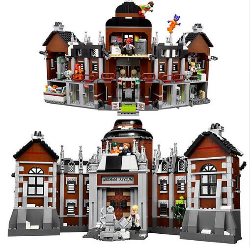 07055 DC Super Heroes Series Arkham Asylum Madhouse Building Blocks 1628pcs Bricks Toys Gift For Compatible Hero <font><b>70912</b></font> image