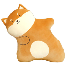 Creative cute firewood dog pillow living room sofa bed waist rest plush  baby doll elf girl toys for kids