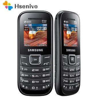 E1207 Original unlocked samsung E1207 E1207T cellphone 1.5 inch Dual sim card FM radio Loudspeaker 800 mAh Battery Free shipping