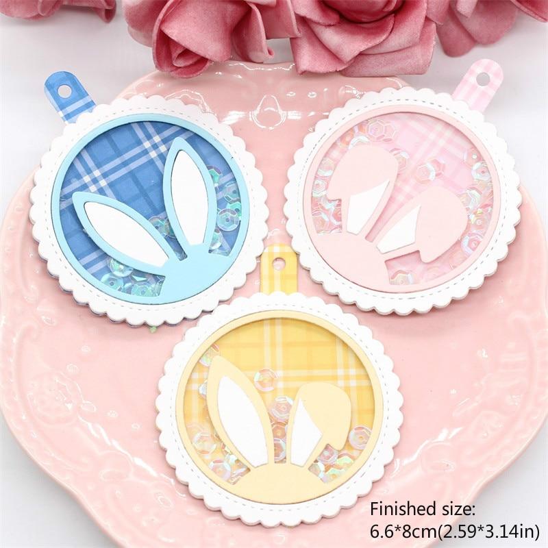 KLJUYP Bunny Tags Metal Cutting Dies Scrapbook Paper Craft Decoration Dies Scrapbooking