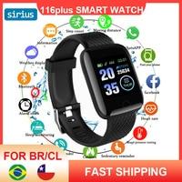 116 Plus Smart Watch Sleep Monitoring Running Track Call Reminder Heart Rate Blood Pressure Fashion Men Women Sport Bracelet 1