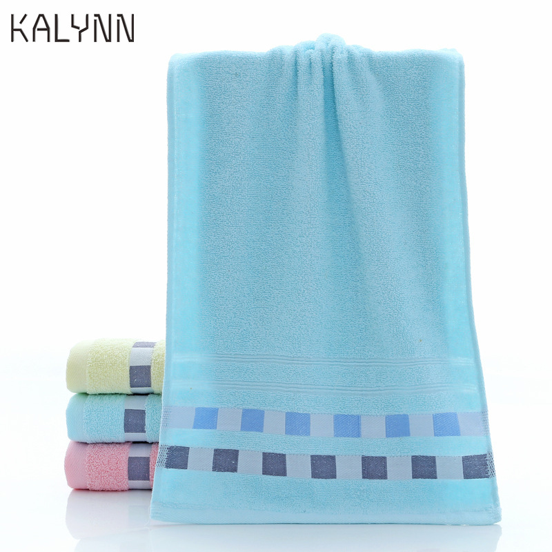 74X33cm Cotton Towel Quick-dry Geometric Patterns SOFT Dry Towels Kitchen Clean Absorbent Towels Solid Color Exercise Face Towel