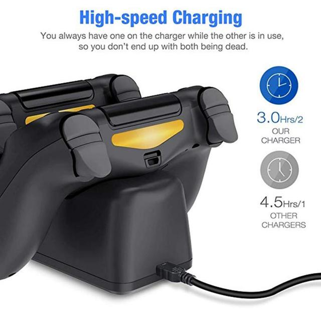 For PS4 Game Controller Joystick Handle USB Charger Dual USB Fast Charging Dock Station For Playstation 4 PS4 Slim Accessories 4