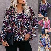 Large size loose casual women blouses 2020 autumn woman