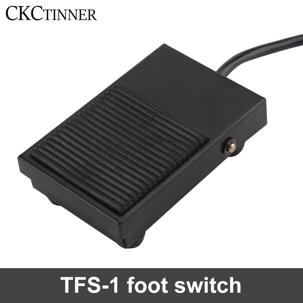 Momentary Foot Controller Pedal Switch Heavy Duty Industrial Foot Switch Pressure Control Foot Fedal Contacts Switch Aluminum Shell Momentary Pedal Nonslip Foot Pedal Switch