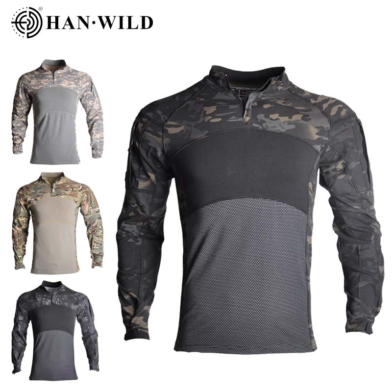 Camouflage G3 US Army Combat Uniform military shirt cargo multicam High Qunlity Airsoft paintball tactical Cotton clothes