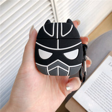 Marvel 3D Cute Cartoon Black Panther Cover For Air Pods 2 Case Earphone Airpods 1 Silicone Soft Funda Accessories