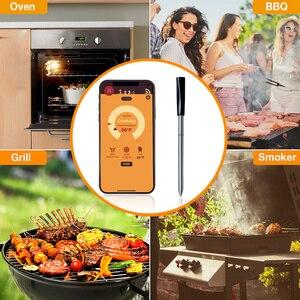Image 5 - Mutfak fırın termometresi kablosuz akıllı barbekü et gıda pişirme biftek termometre Bluetooth açık barbekü hediyeler