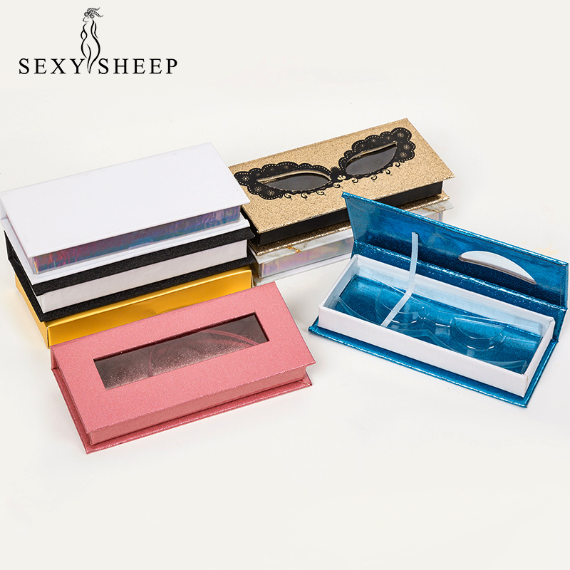 SEXYSHEEP 1-Pair Eyelash Box 3D Mink Eyelashes Packaging Multiple Styles High Quality Material Lashes Box